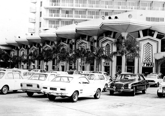 Dusit Thani car park 1970's
