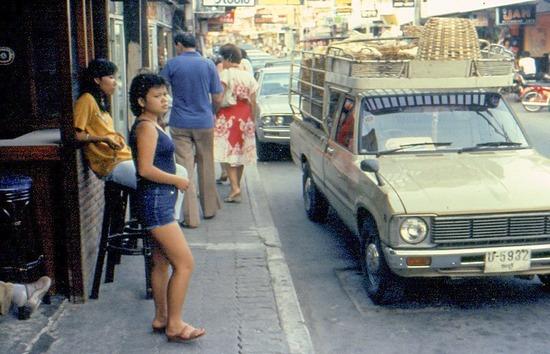 Bangkok street scene 1983