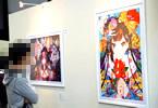 絵師100人展 09。Mika Pikazoの「お祝い」