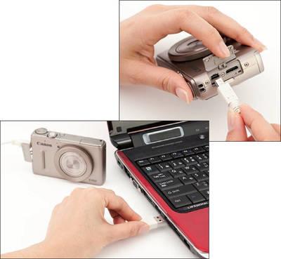 パソコンとデジカメ