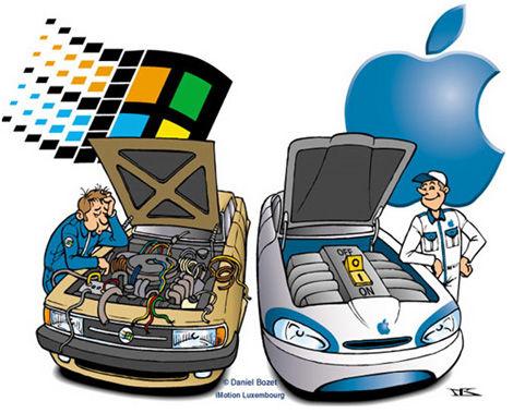 ゲーム=Windows デザイン=Mac