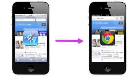 iphoneのブラウザ