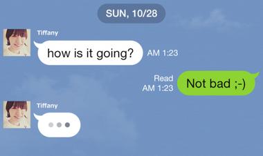 LINEに相手がメッセージ入力中を知らせる機能