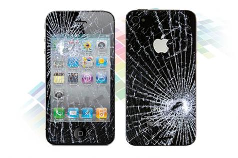 iPhone ヒビ