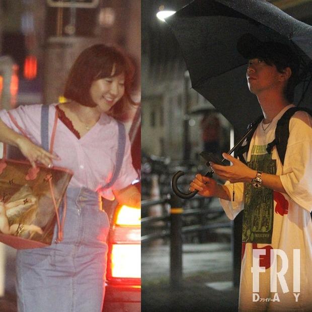 イケメン声優 木村良平(34)が人気マンガ家 新條まゆ(45)と相合傘デート