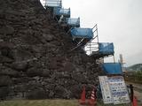 甲府城 石積み復元補修工事