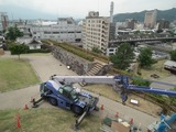 甲府城 石積み復元補修工事の様子