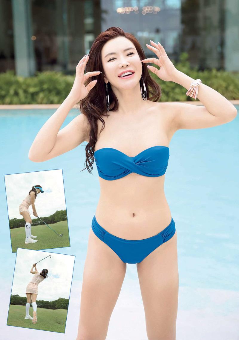 アン・シネ(27)韓国女子ゴルファーの水着グラビアが抜けるww【エロ画像】
