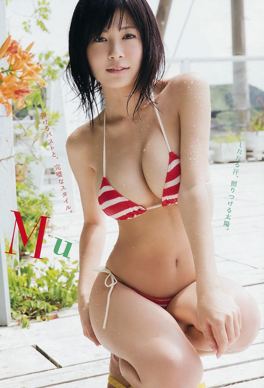 RaMu(20)巨乳Hカップ谷間のスイムスーツグラビアがけしからん♪♪【エロ画像】