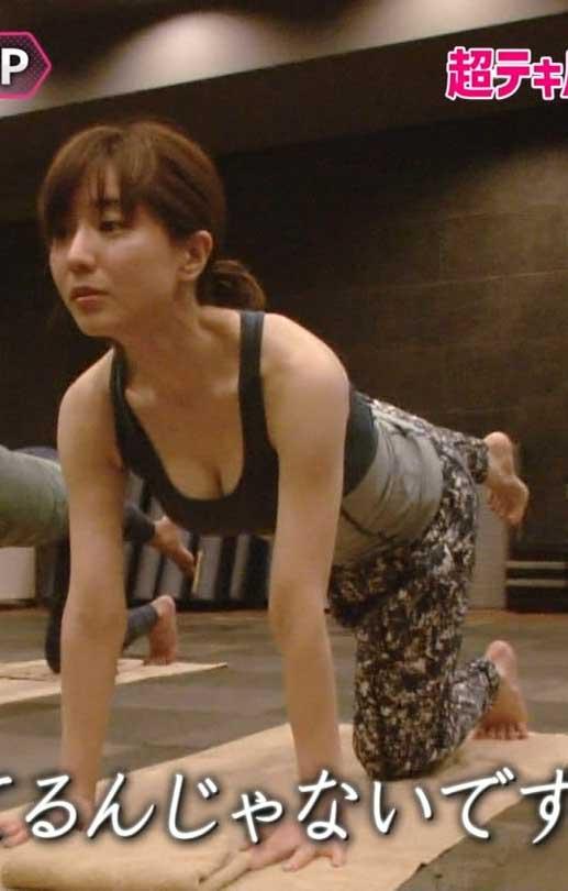 田中みな実アナ(30)タンクトップ胸チラを見せつけてくれたぞwwww(えろ写真)