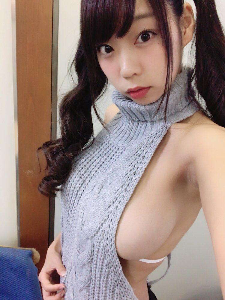 青山ひかる(24)Iカップパイスラに童貞を殺すセーターのハミ乳がぐうシコww【エロ画像】 表紙