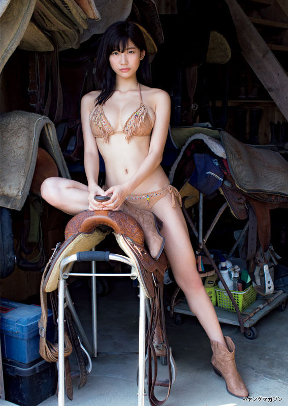 小倉優香(19)カウガールスイムスーツ姿の最新グラビアが抜ける!!!!【エロ画像】