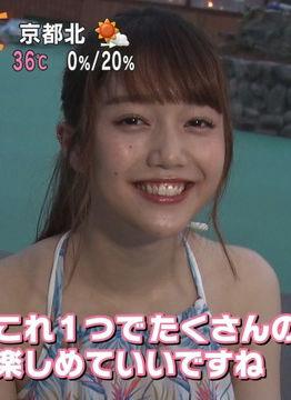 松川菜々花(20)のナイトプールでの水着姿がエロいww【エロ画像】