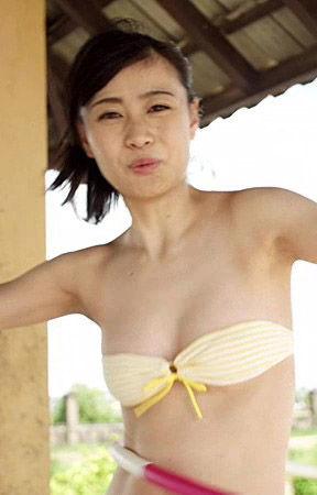 松本ふうか(22)スケベ水着の着エロイメージDVDがエロいww【エロ画像】