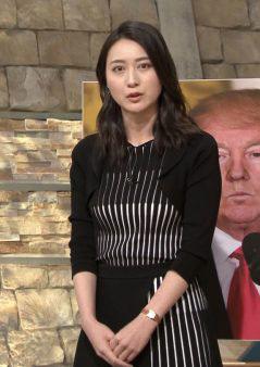 小川彩佳アナ(33)の何ともセクシーな着衣おっぱいが抜けるww【エロ画像】
