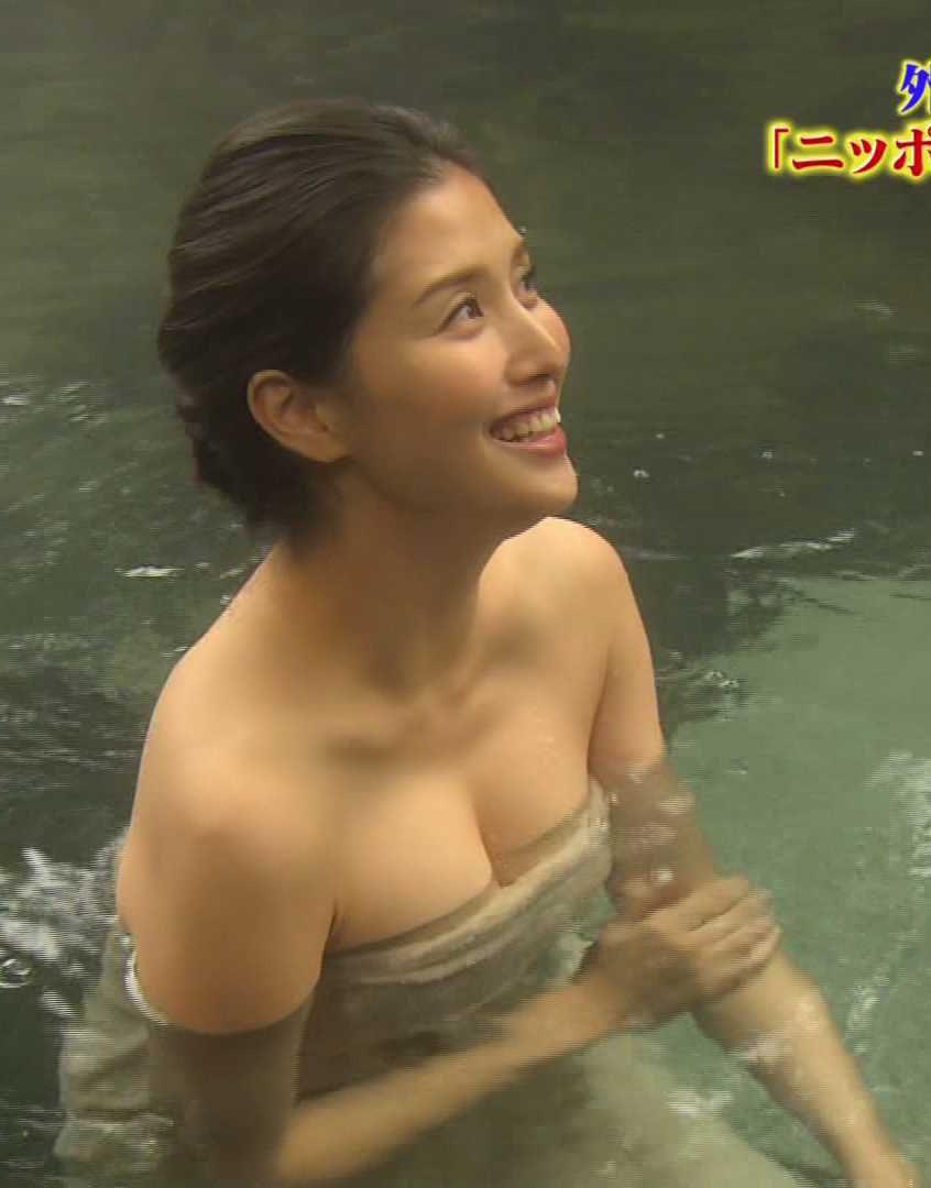 橋本マナミ(33)入浴シーンの胸チラ谷間がぐうシコ!!!!!!【エロ画像】