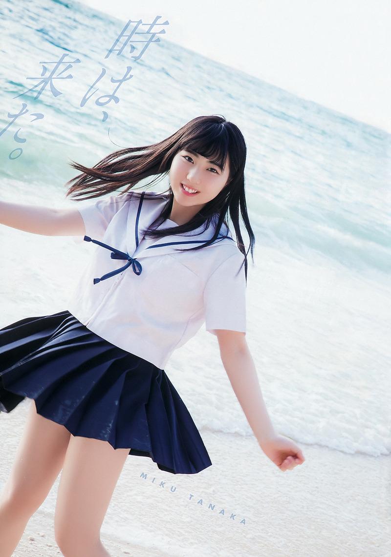 HKT48田中美久(16)のセーラー服姿や着衣巨乳がエロいww【エロ画像】