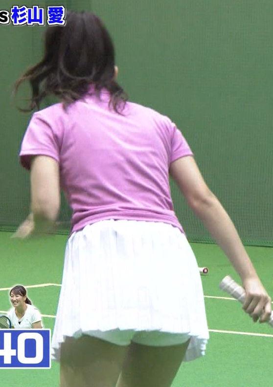 元℃-ute鈴木愛理(23)の見せパンだが抜けるパンチラテニスのエロキャプww【エロ画像】