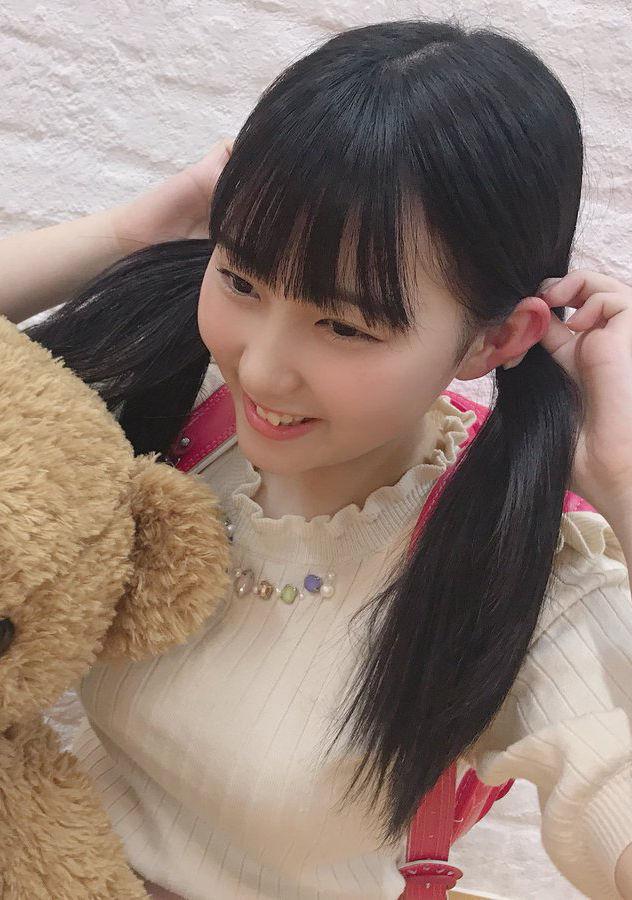 HKT48田中美久(17)のツインテランドセル姿がえろいwwww(えろ写真)