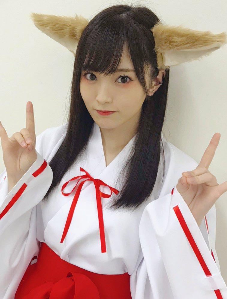 NMB48山本彩(24)ケモ耳巫女コスプレ姿がAV風で抜けるww【エロ画像】 表紙