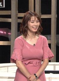 杉浦友紀アナ(35)の人妻の着衣巨乳がパンパンでエロいww【エロ画像】