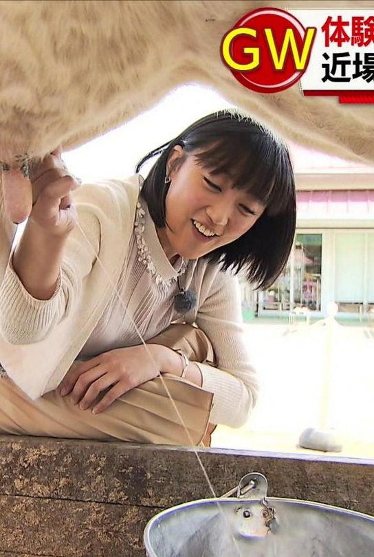 竹内由恵アナ(32)乳搾りが手淫みたいでエろい!!!!【エロ画像】