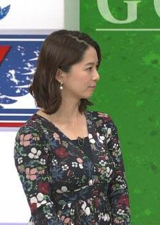 杉浦友紀アナ(34)美熟女女子アナの着衣巨乳ww【エロ画像】