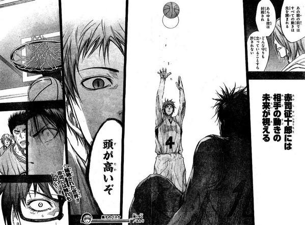 黒子のバスケ前半「3Pどこからでも入る!プレー速攻真似できる!」←まあ漫画だしいいか  黒子のバスケ後半「未来が見える!」←えぇ……