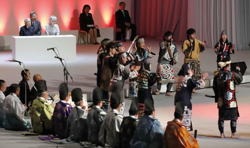 【北海道】北海道命名150年で式典 伝統芸能披露、両陛下臨席 札幌市