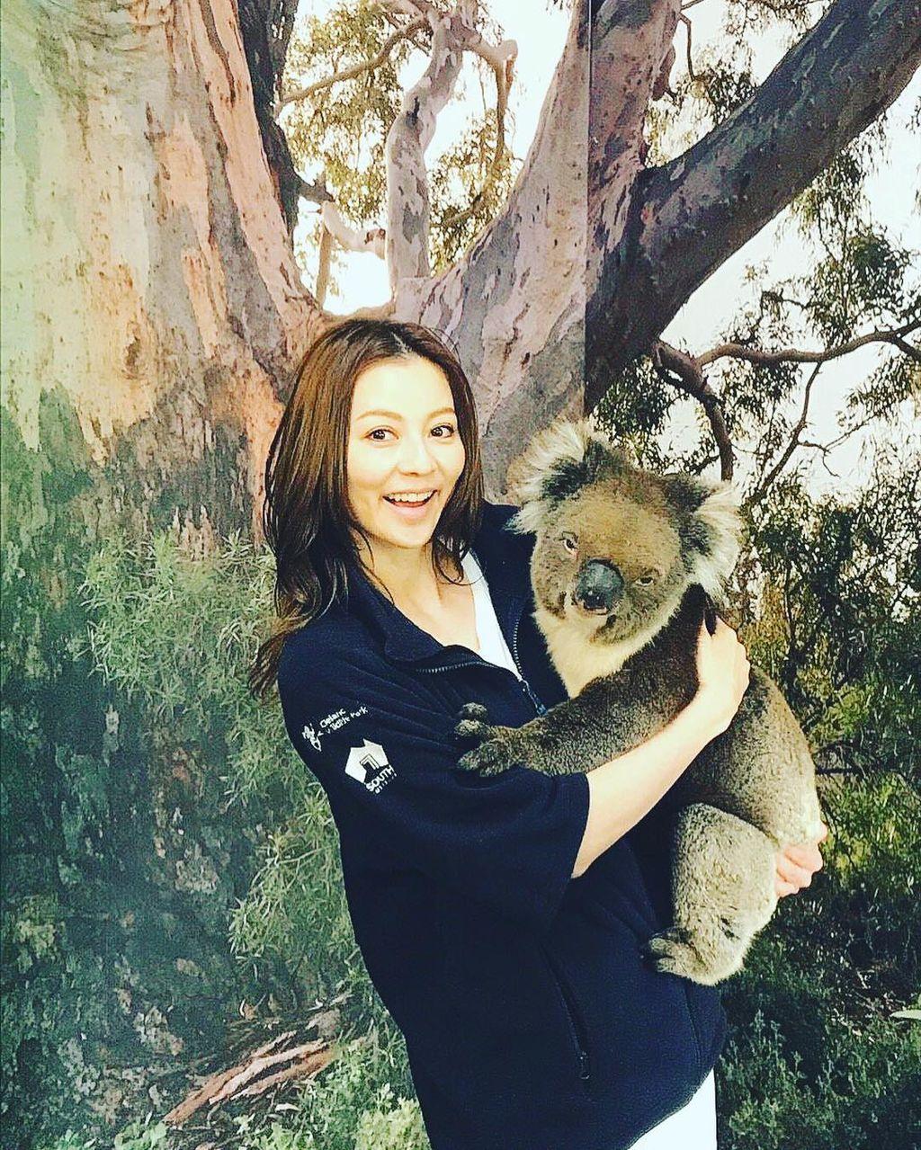 【芸能】香里奈が抱くコアラに衝撃走る 「大きい!」「悪い顔しとるw」