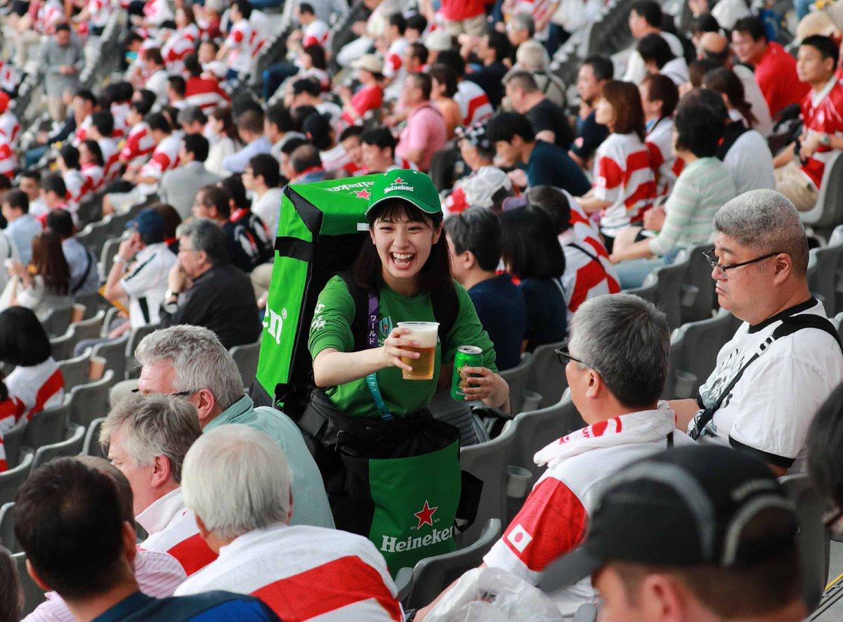 ラグビー会場のビールの売り子がなんかおかしい・・※画像 : 芸能NEWS+|エンタメ情報まとめ!
