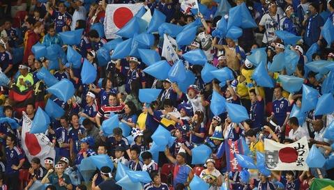 Japanese fans clean