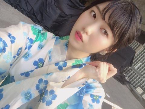 【AKB48】横山由依の浴衣姿に「さすが京美人」と称賛の声