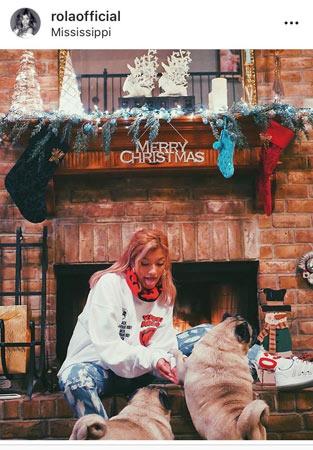 ローラさん、本場のクリスマスを満喫 ← アメリカが本場というイメージではないんだがwww