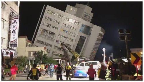 【台湾東部地震】花蓮でM6.4 マーシャルホテル(統帥大飯店)倒壊=2人死亡200人超負傷