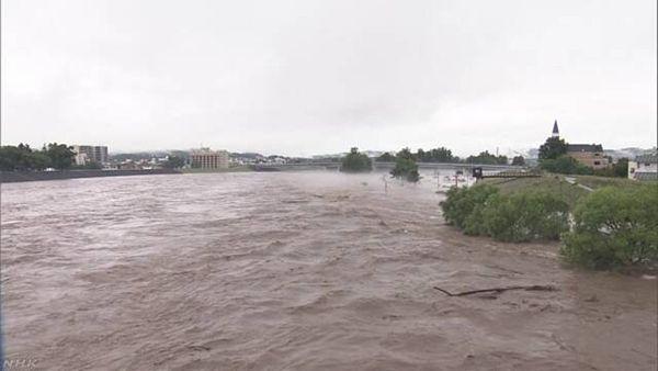 【台風7号北上】北海道で記録的大雨、石狩川氾濫 九州北部から西日本で大雨警戒