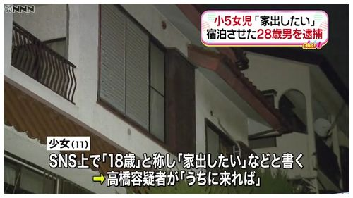 【SNS事件】小5女児、18歳と称し「家出したい」 自宅に停めた男逮捕=別の少女(19)も