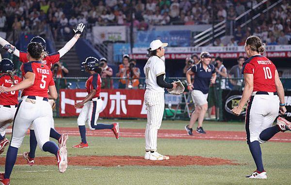 【世界女子ソフト 結果】上野由岐子酷使、米国に2戦連続サヨナラ負け=1日2完投、249球
