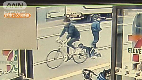 【札幌】クロスバイクでひき逃げ 7歳男児が左足骨折重傷=防犯カメラに一部始終