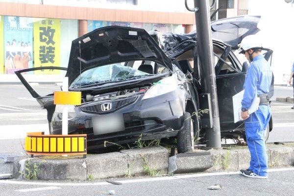 【岡山北区】中学生男女5人乗車で事故、大破し5人死傷=13歳が無免許運転