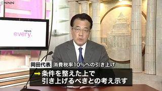 【消費増税】民進党・岡田代表「予定通り10%へ」「期待されてる」=ネット「イオンだけ10%にしろ」