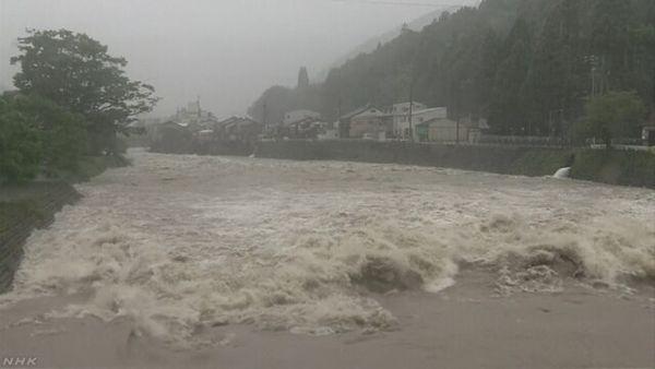 【岐阜 特別警報】関市津保川 氾濫危険水位超える 「記録的短時間大雨情報」発表