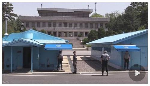 【南北軍事境界線】北朝鮮兵亡命 北朝鮮側の銃撃受け搬送=板門店