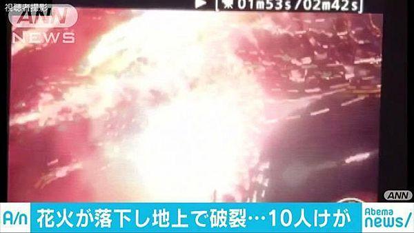 【茨城・土浦花火大会】観客にスターマイン落下、破裂 10人けが=強風で中止