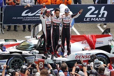 【ルマン24時間決勝】トヨタが1-2フィニッシュ、日本車と日本人による史上初の快挙=TOYOTA GAZOO Racing