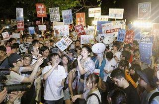 【安保反対デモ】元共産党議員・筆坂秀世氏「ロックフェス的ハンターイ!…国民の支持を得ず」=本当の市民は冷たい視線