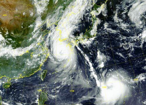 【韓国原発4基停止】台風9号で電力系統異常、10号も朝鮮半島貫通=日本列島、防波堤にならず