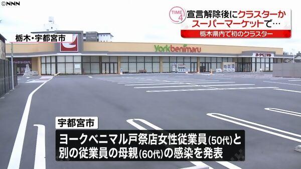 【緊急事態宣言解除】宇都宮「ヨークベニマル戸祭店」でクラスター=武漢ウイルス
