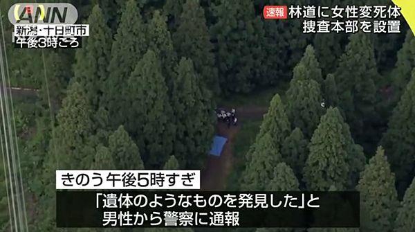 【新潟十日町】林道に20代女性遺体、一部白骨化 バイクの男性が発見
