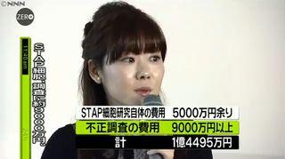 【STAP問題】不正調査費に9千万円 研究費は5千万円=ネット「呆れて物が言えない」
